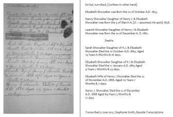 Showalter Family Genealogy, page 2